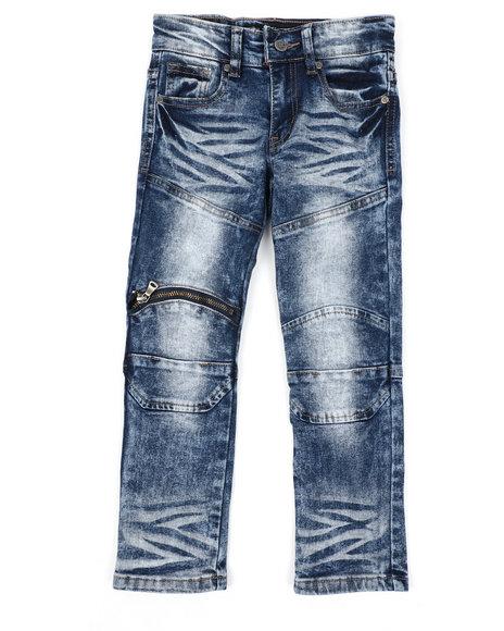 Arcade Styles - Skinny Fit Moto Denim Jeans (4-7)