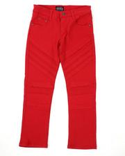 Sizes 8-20 - Big Kids - Stretch Color Twill Moto Pants (8-18)-2423767