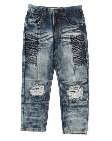 Arcade Styles - Moto Denim Jeans (4-7)