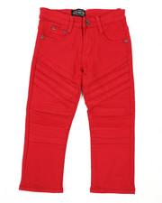 Boys - Stretch Color Twill Moto Pants (4-7)-2423774