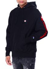 Champion - OVERSIZED FLOCK SCRIPT HOODY-2424139
