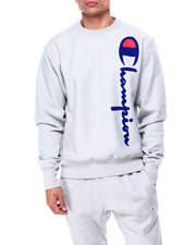 Champion - OVERSIZED FLOCK CREWNECK SWEATSHIRT-2424106