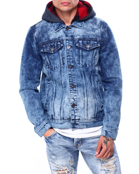 Buyers Picks - TONI FLEECE HOOD DENIM JACKET