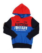 Hoodies - Color Block Pop Over Hoodie (4-7)-2423899