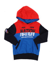 Sizes 2T-4T - Toddler - Color Block Pop Over Hoodie (2T-4T)-2423895