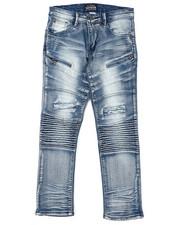 Sizes 8-20 - Big Kids - Moto Denim Jeans (8-20)-2424857