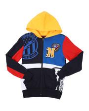 Sizes 8-20 - Big Kids - Color Block Full Zip Hoodie (8-18)-2423918
