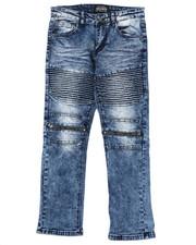 Sizes 8-20 - Big Kids - Moto Denim Jeans (8-20)-2424846