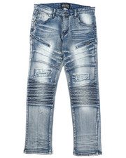 Sizes 8-20 - Big Kids - Moto Denim Jeans (8-20)-2424864