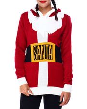 Ugly Christmas Shop - Santa Hooded Sweater-2425363