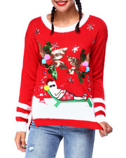 Ugly Christmas Shop - Palm Tree Santa L/S Sweater-2425540