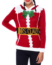 Ugly Christmas Shop - Mrs Claus Hooded Sweater-2425347