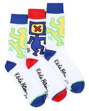 DRJ SOCK SHOP - 3 Pack Icons Crew Socks-2425096