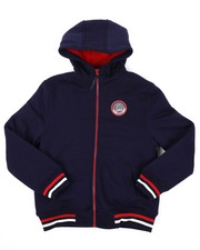 Hoodies - Fleece Lined Full Zip Hoodie (8-20)-2425652