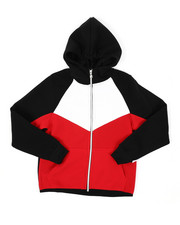 Hoodies - Cut & Sew Full Zip Fleece Hoodie (8-20)-2425608