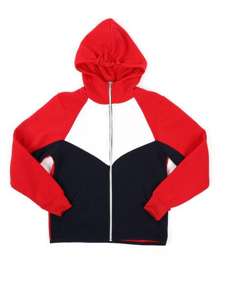 Arcade Styles - Cut & Sew Full Zip Fleece Hoodie (8-20)