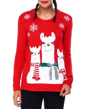 Ugly Christmas Shop - Llama Christmas Sweater-2425351