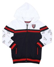 Hoodies - Color Block Full Zip Hoodie (4-7)-2423871