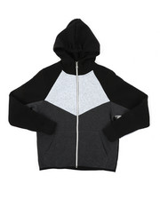 Hoodies - Cut & Sew Fleece Full Zip Hoodie (8-20)-2425124