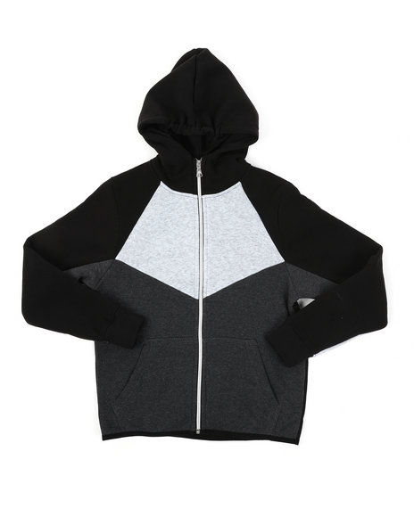 Arcade Styles - Cut & Sew Fleece Full Zip Hoodie (8-20)
