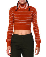 Women - Stripe Turtle Nk L/S Crop Pullover-2423684