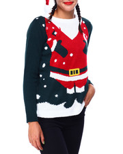 Ugly Christmas Shop - Santa Sweater w/ Hat-2425355