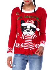 Ugly Christmas Shop - Woof Christmas L/S Sweater-2425323