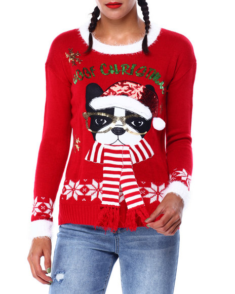 Fashion Lab - Woof Christmas L/S Sweater