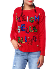 Ugly Christmas Shop - Sleigh Bells L/S Sweater-2425327