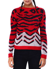 DEREK HEART - Animal JQ Crew Nk Drop Shoulder L/S Pullover-2423278