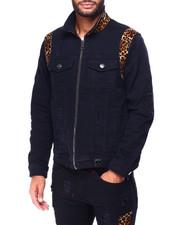 Denim Jackets - Leopard Panel Jacket-2424385