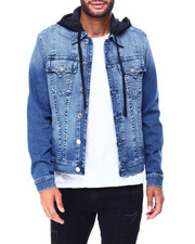 Denim Jackets - TRUCKER JACKET  W HOOD-2421806