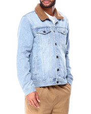 Denim Jackets - PETER DENIM SHERPA JACKET-2424266