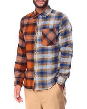 Men - Colorblock Flannel Shirt-2425168