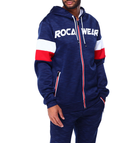Rocawear - RIVALS TECH FLEECE FULL-ZIP HOODY