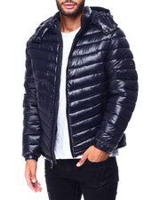Heavy Coats - Colorblock Bubble Jacket w Hood-2425274
