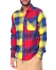 Men - Colorblock Flannel Shirt-2425163