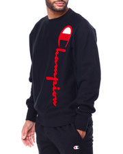 Champion - OVERSIZED FLOCK CREWNECK SWEATSHIRT-2425269
