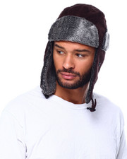Hats - Fur Lined Curdoroy Trapper Hat-2425674