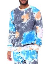 Preme - Grey Tie Dye Logo Crewneck Sweatshirt-2424702