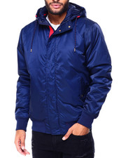 Heavy Coats - Satin Nylon Jacket w Hood-2425245