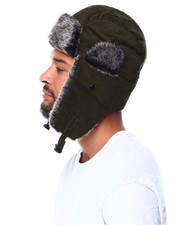 Hats - Fur Lined Curdoroy Trapper Hat-2425675