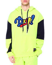 SWITCH - Drip Chenille Patch Drop Shoulder Hoodie-2425914