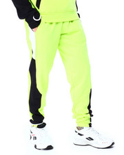 SWITCH - colorblock Fleece Jogger w Velcro-2425968