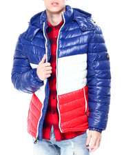 Mens-Winter - Colorblock Bubble Jacket w Hood-2425723