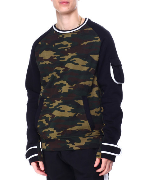 SWITCH - Velcro Tape Colorblock Crewneck Sweatshirt