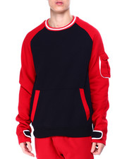 SWITCH - Velcro Tape Colorblock Crewneck Sweatshirt-2425900