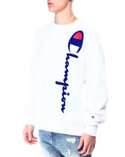 Champion - OVERSIZED FLOCK CREWNECK SWEATSHIRT-2425263