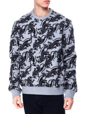 Sean John - Ls Allover Panther Sweatshirt-2425775