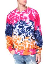 Preme - Pink Tie Dye Logo Crewneck Sweatshirt-2424718